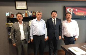 Belediye Başkanlarından Milletvekili Tunç'a Ziyaret