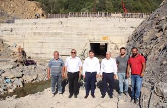 Milletvekili TUNÇ Ulus Eldeş Barajı İnşaatını ziyaret Etti