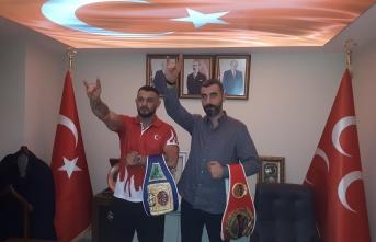 Avrupa Şampiyonu MHP İlçe Başkanını Ziyaret Etti.