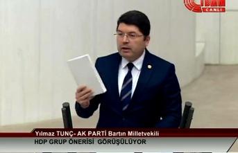 Milletvekili Tunç, TBMM'de Darbe İddiaları Hakkında Konuştu;