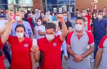 CHP'li Belediye İşçileri Eylem Yaptı