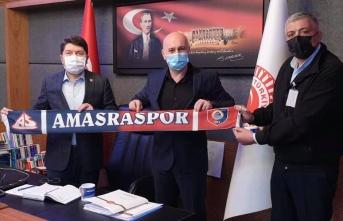 AMASRASPOR Başkanı Ertan CENGİZ'den Yılmaz TUNÇ'a Ziyaret
