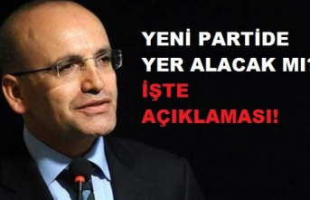 Mehmet Şimşek'ten 'yeni parti' açıklaması