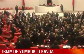 Meclis'de Milletvekillerinden yumruklu Kavga
